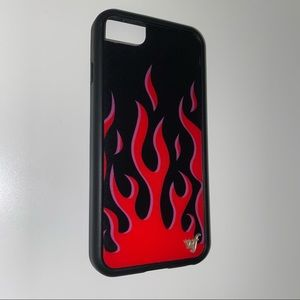 iphone SE/6/7/8 red flames wildflower case